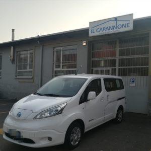 Un furgone elettrico per il trasporto dei pasti comunali