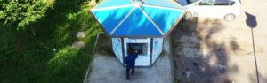 Tre casette dell'acqua in via Aldo Moro, via Zincone e via Adda.